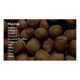 Wild hazelnut pack of standard business cards
