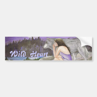 Wild Heart  By Lori Karels Bumper Sticker