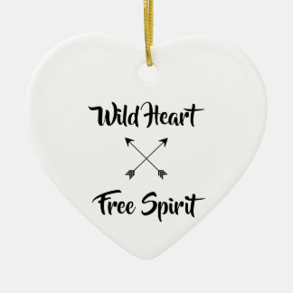 Wild Heart & Free Spirit Ceramic Ornament