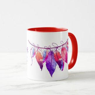 Wild Heart Gypsy Soul dreamcatcher feather mug