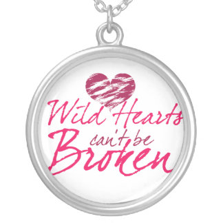 Wild hearts can't be Broken Personalized Necklace