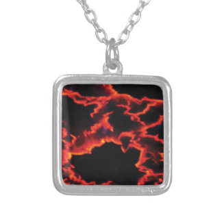 wild heat spots silver plated necklace