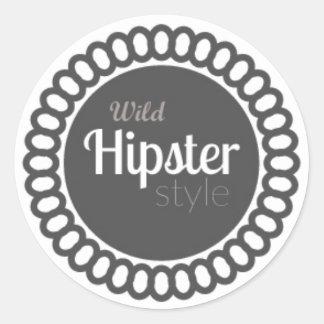 - Wild Hipster Style White Customizable Sticker -