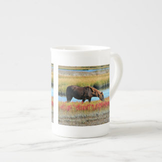 Wild Horse Eating In The Field Tea Cup