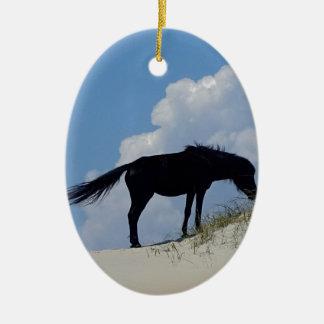 Wild Horse in OBX Ceramic Oval Decoration