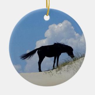 Wild Horse in OBX Round Ceramic Decoration