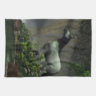 Wild Horse in the Forest Tea Towel