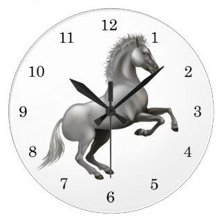 Wild horse large clock