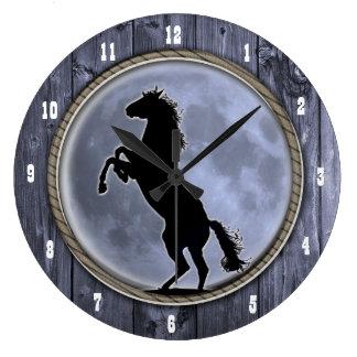 Wild Horse Moon Clocks