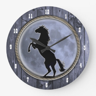 Wild Horse Moon Large Clock