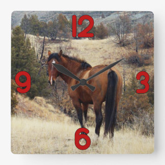 Wild Horse on Hill Wallclock