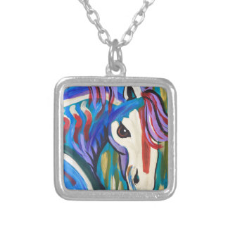 Wild Horse Silver Plated Necklace