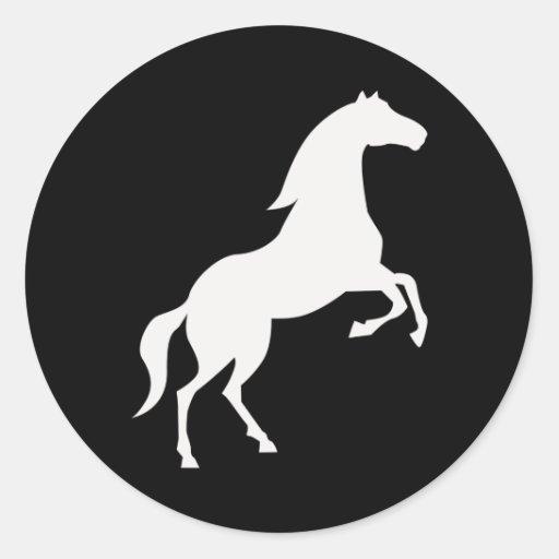 Wild Horse Round Sticker