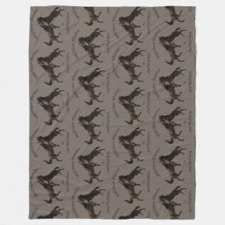 Wild Horse Warriors Fleece Blanket