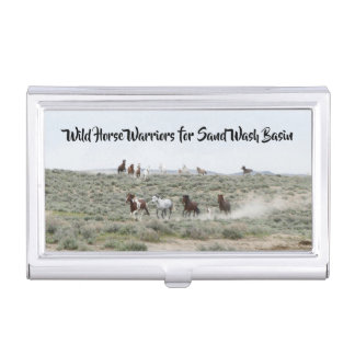 Wild Horse Warriors for Sand Wash Basin Business Card Holder
