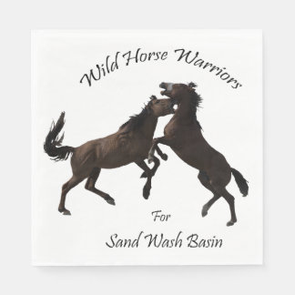 Wild Horse Warriors for Sand Wash Basin Disposable Napkins