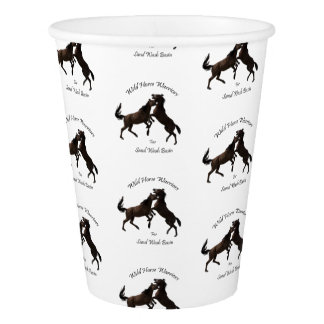 Wild Horse Warriors for Sand Wash Basin Paper Cup