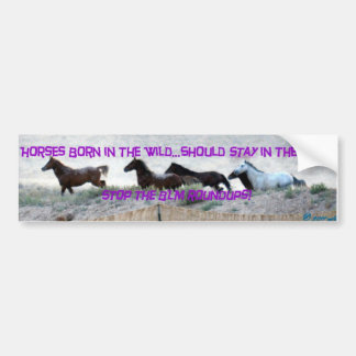 Wild horses born in the wild, should stay there bumper sticker