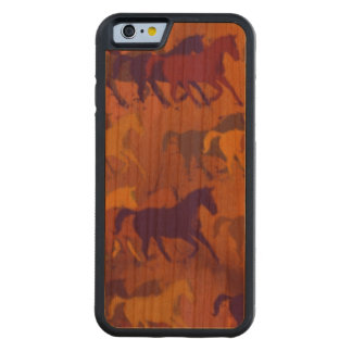 wild horses carved cherry iPhone 6 bumper case