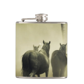 Wild Horses Hip Flask