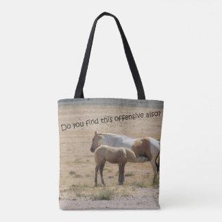 Wild Horses Nursing Tote Bag