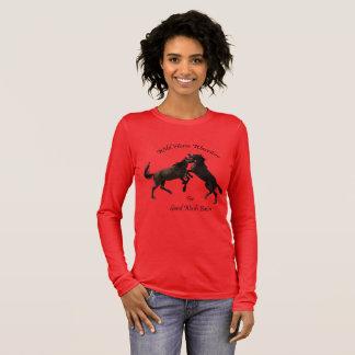Wild Horses of Sand Wash Basin,  Colorado Long Sleeve T-Shirt