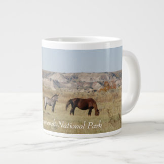 Wild Horses of Theodore Roosevelt National Park Large Coffee Mug