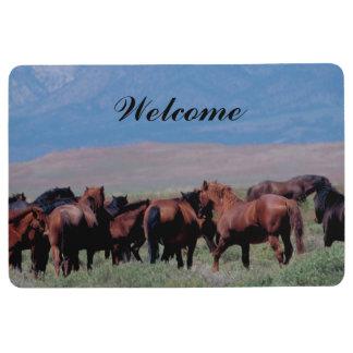 Wild Horses Out West Floor Mat