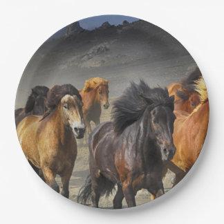 Wild Horses Paper Plate