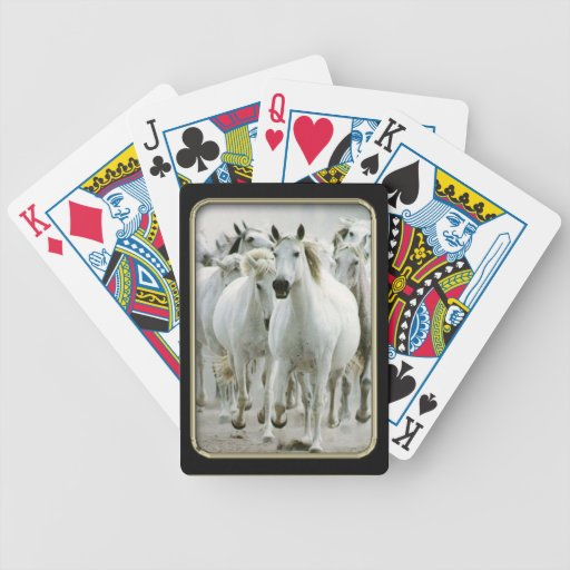 Wild Horses Photo Art Playing Cards