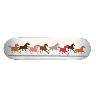 Wild horses running custom skateboard