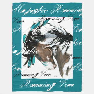 Wild horses Running Free Blanket by Bihrle