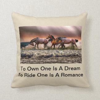 Wild Horses Running Free Cushion
