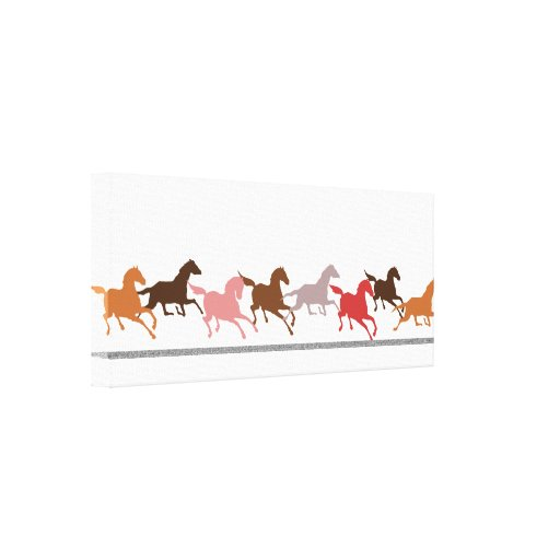Wild horses running gallery wrapped canvas