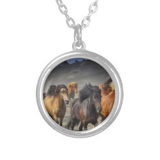 Wild Horses Silver Plated Necklace