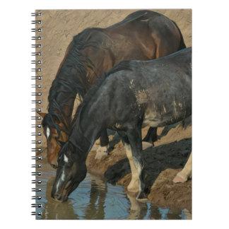 Wild Horses Spiral Note Books