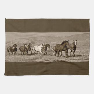 Wild Horses Western Horse Kitchen Towel