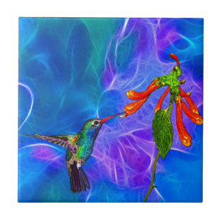 Wild Hummingbird Bird-lover's Art Series Tile