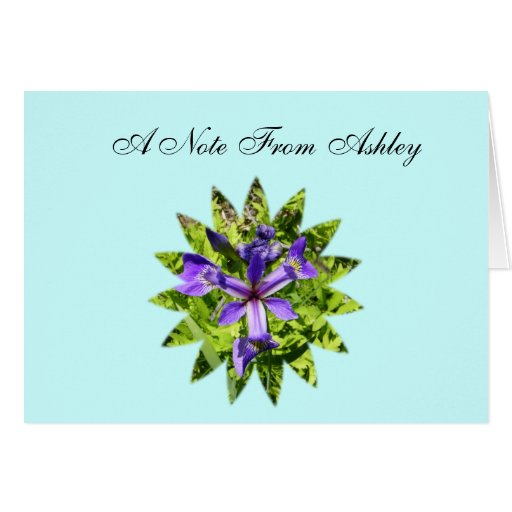 Wild Iris, A Note From Ashley Greeting Card