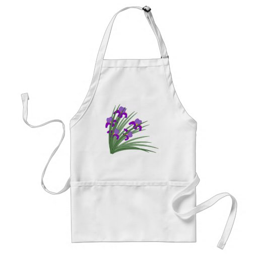 Wild iris aprons