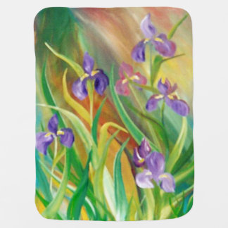 Wild Iris Baby Blanket