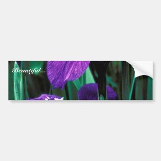 Wild Iris Bumper Sticker