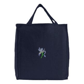Wild Iris Embroidered Tote Bag