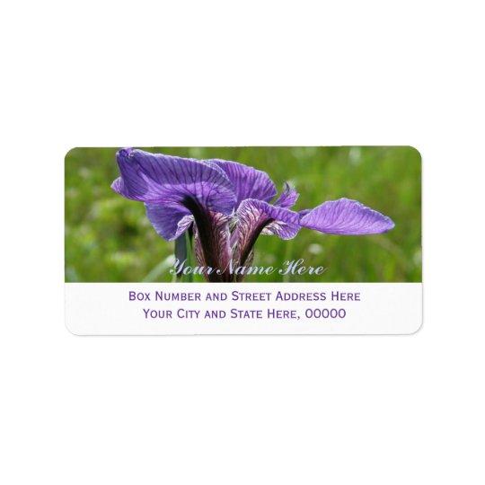 Wild Iris, Iris setosa Address Label