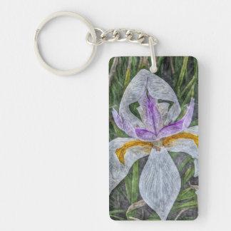 Wild Iris Keychain