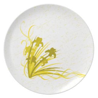 Wild iris plate