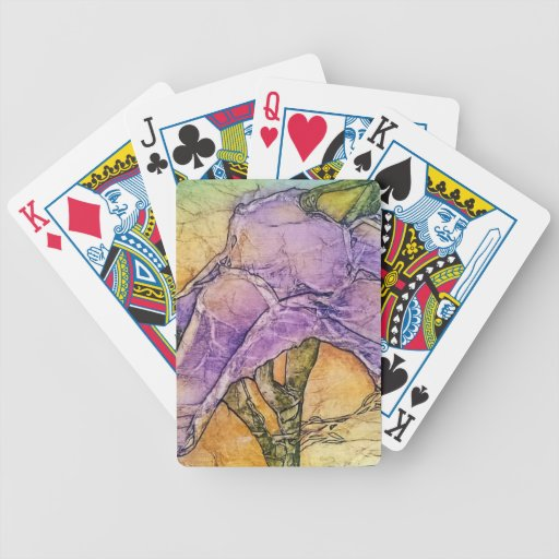 Wild Iris Bicycle Poker Deck