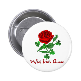 Wild Irish Rose Pinback Buttons