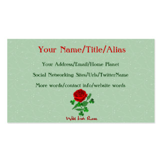 Wild Irish Rose Double-Sided Standard Business Cards (Pack Of 100)