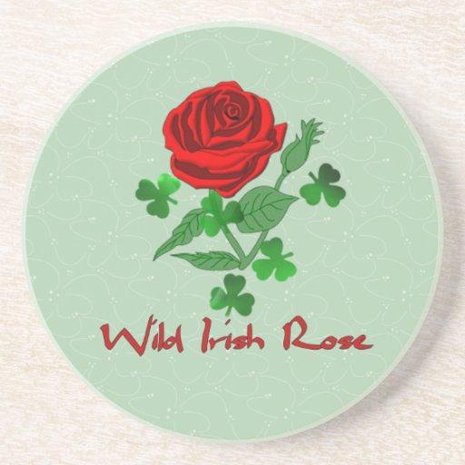 Wild Irish Rose Drink Coasters